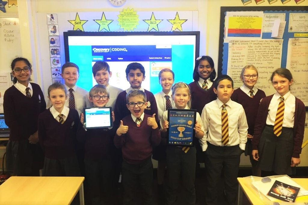 Schools crack the code to win Discovery Education Coding gold cup